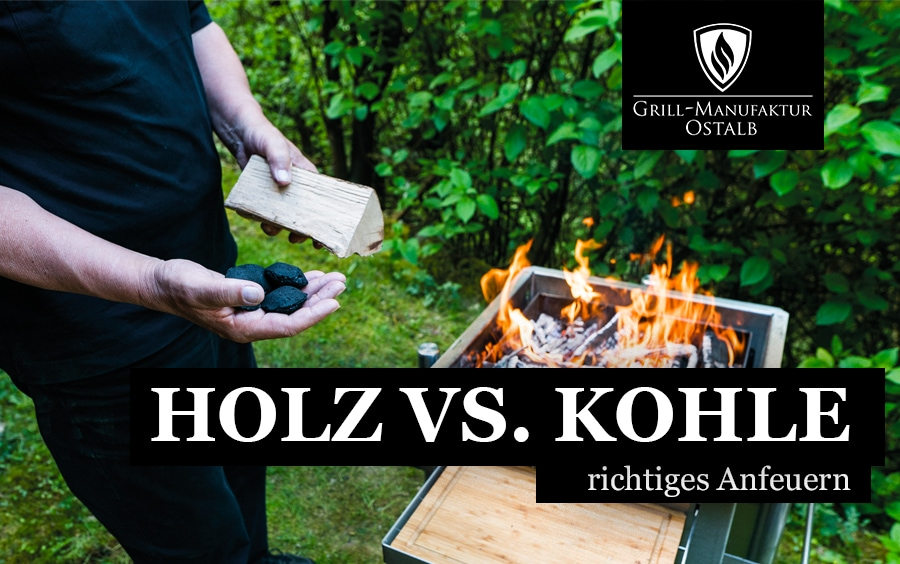 Holz vs. Kohle - richtiges Anfeuern